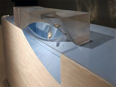 Tadao Ando architecture exhibition at Duvetica showroom, Milan Model of the ongoing abu dhabi maritime museum Architecture Sketchbook, Architecture Collage, Modern Architecture, Architecture Models, Urban Intervention, Arch Model, Tadao Ando, Maritime Museum, Building Design