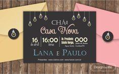 convite chá de casa nova com letras coloridas Open House, Party Planning, Lana, Chalkboard, How To Plan, Learning, Wedding, Design, Home Decor