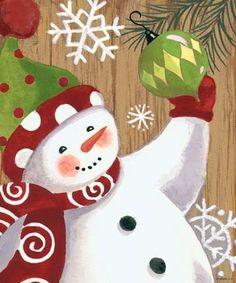 Rustic Snowman-Ornaments -- by Jennifer Brinley
