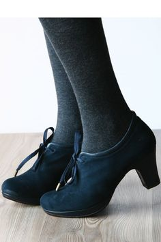Pretty, pretty shoes with warm tights - perfect for winter.