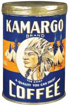 Kamargo Brand One Pound Coffee Tin