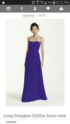 The bridemaids dress in regency purple