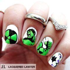 Lacquered Lawyer | Nail Art Blog: The Incredible Hulk