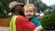 Boy, 2, says goodbye to his 'first best friend' — the garbage man