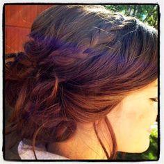 Wedding hair, updo, baid, hairstyles, romantic waves