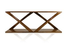 Double Z Console - Mid-Century / Modern Wood Console Table by Hellman Chang