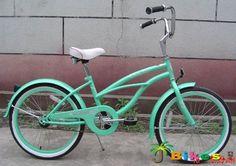"J Bikes 20"" Beach Cruiser Bicycle Micargi Jetta Girls Kids Children Bike Mint Green"