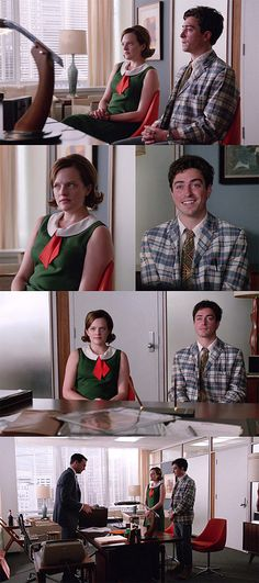 I kind of like the contrast between the green and red Mad Man Serie, Girly Stuff, Girly Things, Mad Men Peggy, Elizabeth Moss, The Imitation Game, Men Tv, Call The Midwife, Don Draper