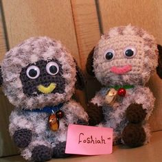 foshiah crochet animal dolls