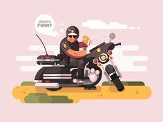 Police officer on motorcycle by Anton Fritsler (kit8) #Design Popular #Dribbble #shots
