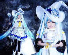 [606 wings kind shooting] Spot 2014 Hatsune snow / snow miku cos Puella cosplay- Taobao