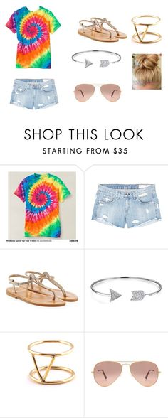 """""""Happy hippy"""" by marisa-heine ❤ liked on Polyvore featuring rag & bone/JEAN, K. Jacques, Bling Jewelry, SOKO and Ray-Ban"""