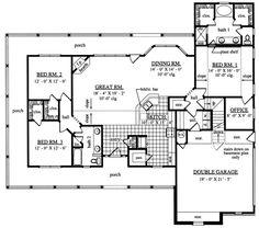 2,000 sq ft split floor plan