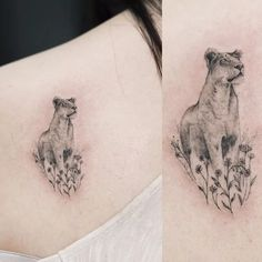 Delicate lioness tattoo #lioness #lion #small