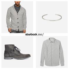 Passt das nicht hervorragend zusammen: Strickjacke von Minimum, Armband von Le Gramme, Boots von Diesel und Hemd von Ami. Hier entdecken und shoppen: http://sturbock.me/1Ve