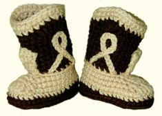 CrochetedCouture.com | Crochet Patterns Crocheted Cowboy Booties - PDF download - free (I checked)