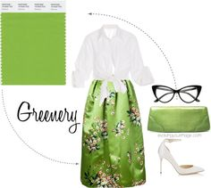 Pantone Greenery- I like this color green. I think the knot top would be cute in a bright color over a white shirt maybe-randi
