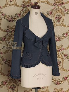 Emanuel Frill Jacket by Mary Magdalene - $312  This just screams TEACHER to me. I lurvz it! <3