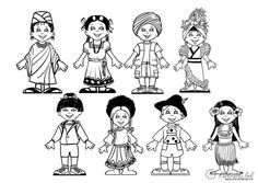 diversity kids from around the world Multicultural Kids coloring pages printable and coloring book to print for free. Find more coloring pages online for kids and adults of diversity kids from around the world Multicultural Kids coloring pages to print. Kids Printable Coloring Pages, New Year Coloring Pages, Quote Coloring Pages, Free Coloring Sheets, Christmas Coloring Pages, Animal Coloring Pages, Colouring Pages, Coloring Pages For Kids, Coloring Books