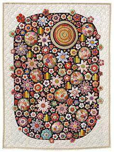 Quilt by Yazu Toshiko (Japan) seen at Pat Sloan's blog