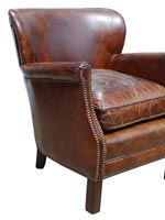 ruby beets leather chair - so many great pieces to be found here