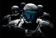 Les commandos clones sont les forces spéciales de la Grande Armée de la République, fonctionnant en escouade de 4 et chargés des missions les plus périlleuses.