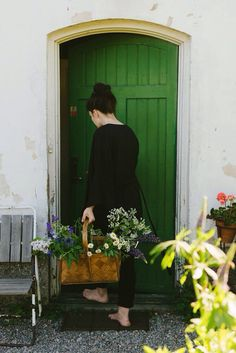 The Green front door