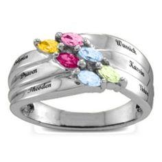 Angled 2-6 Marquise Ring #jewlr
