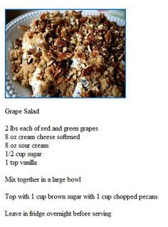 Grape Salad - Had this at our cookout yesterday at it was SO GOOD.