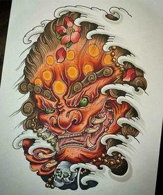 HÌNH XĂM KỲ LÂN VÀ NHỮNG BÍ ẨN QUÁI DỊ TRÊN THẾ GIỚI - Tạp chí xăm nghệ thuật | Tattoo Magazines Foo Dog Tattoo, Dog Tattoos, Hand Tattoos, Japanese Tattoo Art, Japanese Tattoo Designs, Vintage Style Tattoos, Warrior Tattoos, Fu Dog, Tatoo