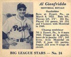 1950 Big League Stars (V362) #24 Al Gionfriddo Front