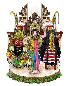 Indonesian otakus make some noise! -- #indonesia #bali #barong #art #illustration #gallery #anime #manga #otaku See more from YUKIUSAGI in otakumode.com/YUKIUSAGI