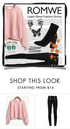 """With The Tattoos Of A Russian Man"" by drummergirl95 ❤ liked on Polyvore featuring Balmain and Valentino"