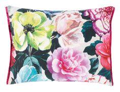 Pandora Peony Vivacious Pure Linen Throw Pillow by Designers Guild