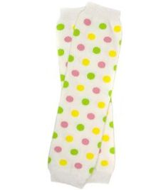 #6 Spring Polka Dot baby girl leg warmers by My Little Legs by My Little Legs. $7.50. 12 inches long. recommended for ages 0-6 years old. My Little Legs Brand. Get this adorable green Pink & Yellow polka dot pair of leg warmers for your little one today!