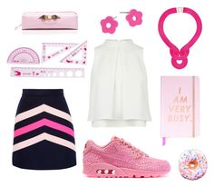 """""""pink school"""" by queenmelani on Polyvore featuring MSGM, NIKE, Marc by Marc Jacobs, Lara Bohinc, Ted Baker and Iscream"""