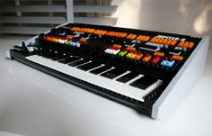 Roland Jupiter 8  Synthesizer made out of Lego's :) how neat! - liza