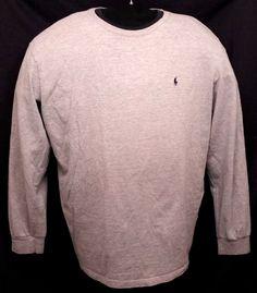 POLO by Ralph Lauren Gray Casual Long Sleeve Shirt XL EUC Cotton Blend #PoloRalphLauren #PoloRugby