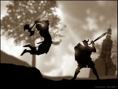 Love silhouettes - Photoshop digital art - by George Snyder