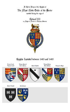 Roll of Arms - Knights of the Garter Installed during the Reign of King Richard III Art Print
