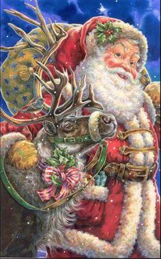 Santa and deer ... Donna Race