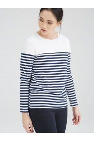 UNIQUE 21 NAUTICAL LUXE EDEN NAUTICAL BLUE AND WHITE STRIPE BRETON TOP