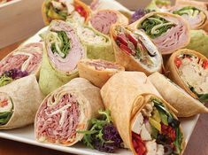 Our Meeting Trays and Combo platters can include, sandwiches, Kaisers, wraps…