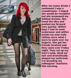 once she knows, she will never want you pretneding to be a man ever again Girly Captions, Tg Captions, Captions Feminization, Fall Outfits, Cute Outfits, Tg Caps, Female Supremacy, Pretty Men, Crossdressers