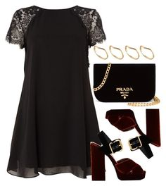 """Style  #10953"" by vany-alvarado ❤ liked on Polyvore featuring TFNC, Prada and ASOS"