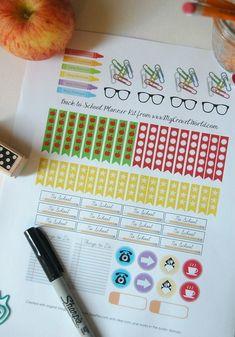Free Planner, Planner Ideas, Planner Diy, Planner Journal, Planner Supplies, Create 365 Happy Planner, School Planner, Teacher Planner, Printable Planner Stickers