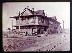 The first Santa Fe Depot building in San Bernardino, CA, was constructed of wood in 1886. It was destroyed by fire in 1916 and work began on the current Spanish/Moorish-style building that stands today. Read more at PE.com.
