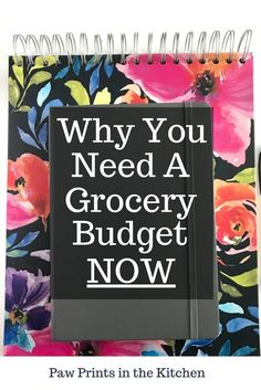 If you have been ignoring the fact that you don't have a grocery budget then this is a must read! Creating a grocery budget has helped me to curb my spending and save hundreds of dollars on groceries each month! - Paw Prints in the Kitchen #grocerybudget