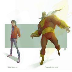 Batson......Captain Marvel by CoranKizerStone.deviantart.com on @deviantART