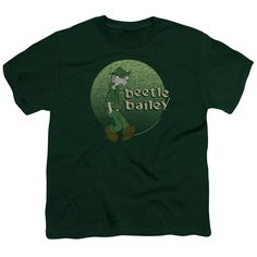 BEETLE BAILEY/GREEN BEETLE-S/S YOUTH 18/1-HUNTER GREEN
